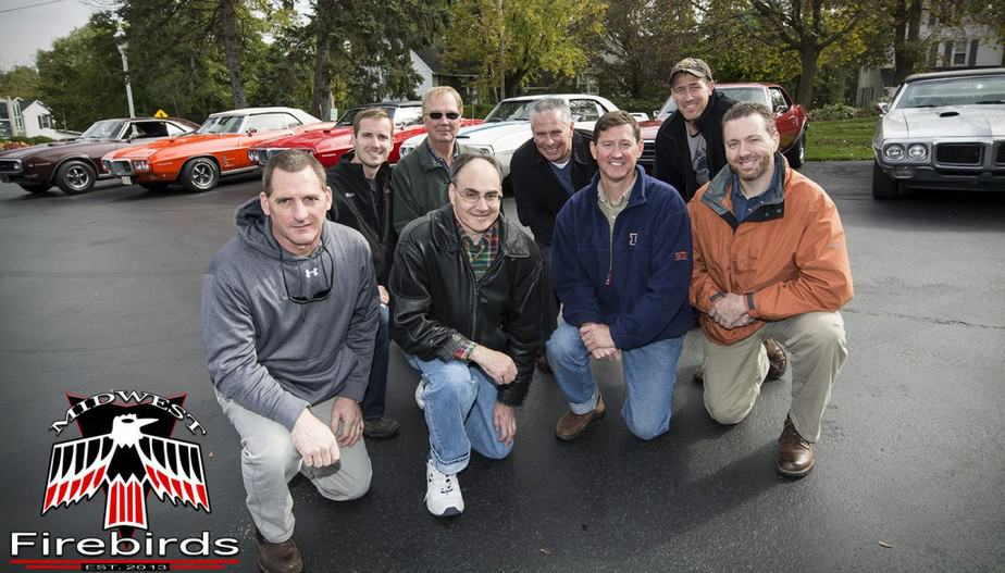 Matt and the Executive Team of the Midwest Firebirds Car Club.