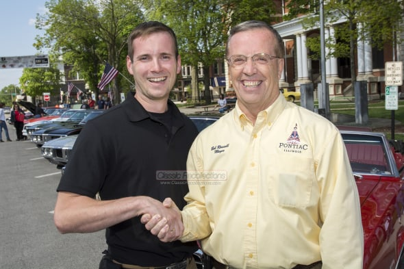 Matt Avery with Pontiac, IL Mayor, Bob Russell.