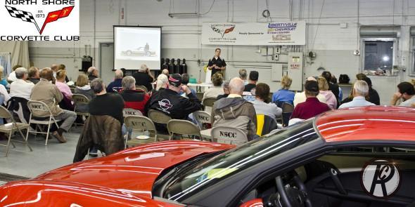 Matt Avery with the North Shore Corvette car club.