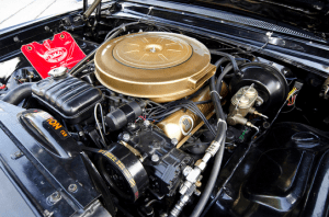 A 390ci V8 is under the hood.