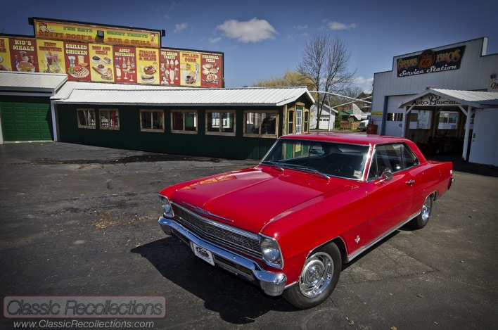 This 1967 Chevrolet Nova was parked at the Volo Auto Musuem in Volo, Illinois.