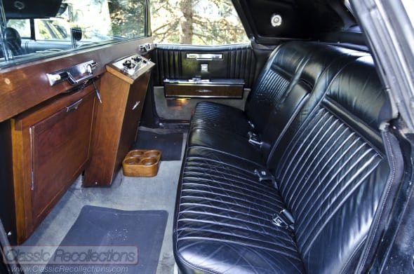 This 1967 Lincoln Continental was built by the Lehmann Peterson limo company from Chicago, Illinois.