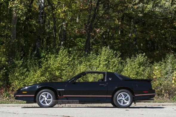 This 1986 Pontiac Firebird wasa restored.